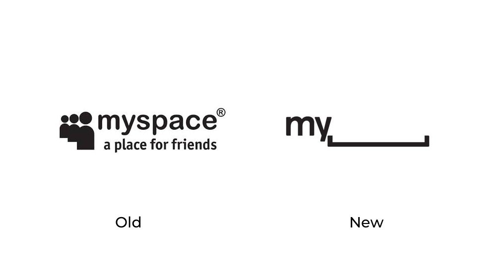Myspace logo redesign