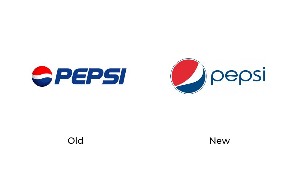 Pepsi old new logo redesign fail