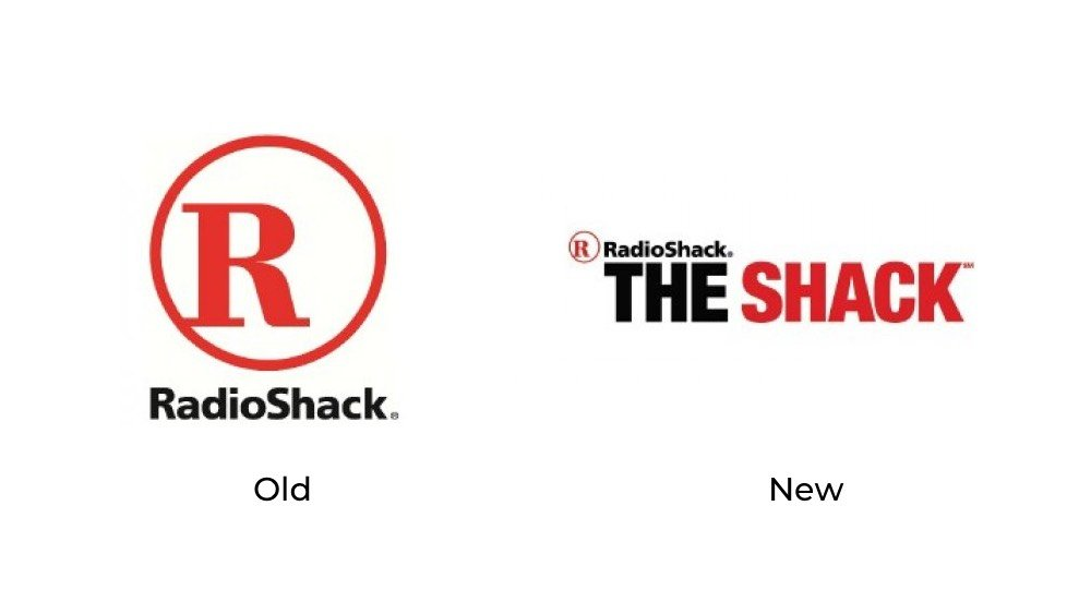 Radio Shack old new logo