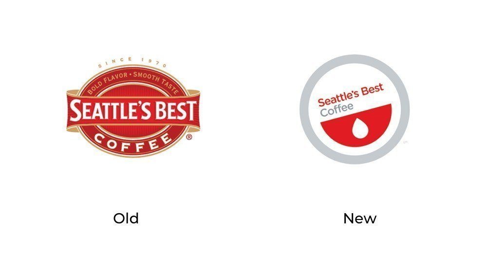 Seattles best coffee old new logo
