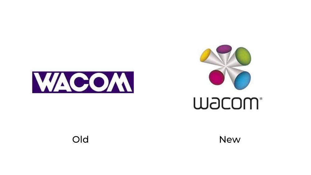 Wacom old new logo