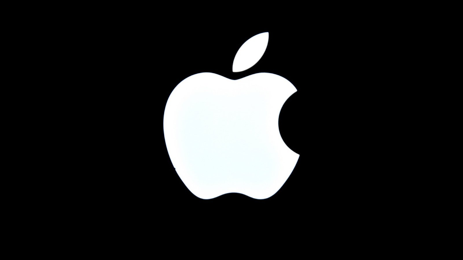 White Apple logo
