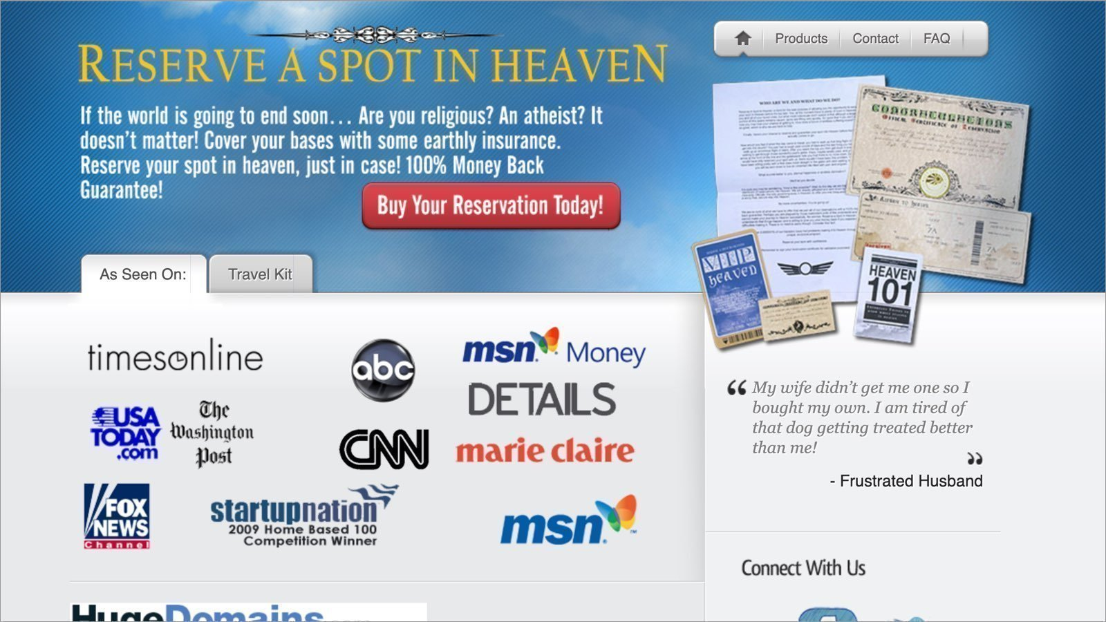 crazy business ideas Reserve A Spot In Heaven