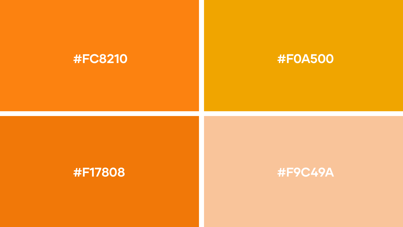 favourite orange logo colors