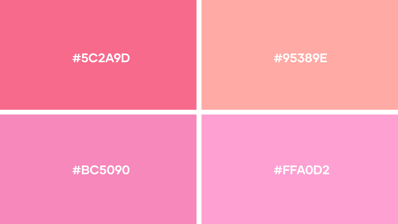 Our favourite pink logo colors