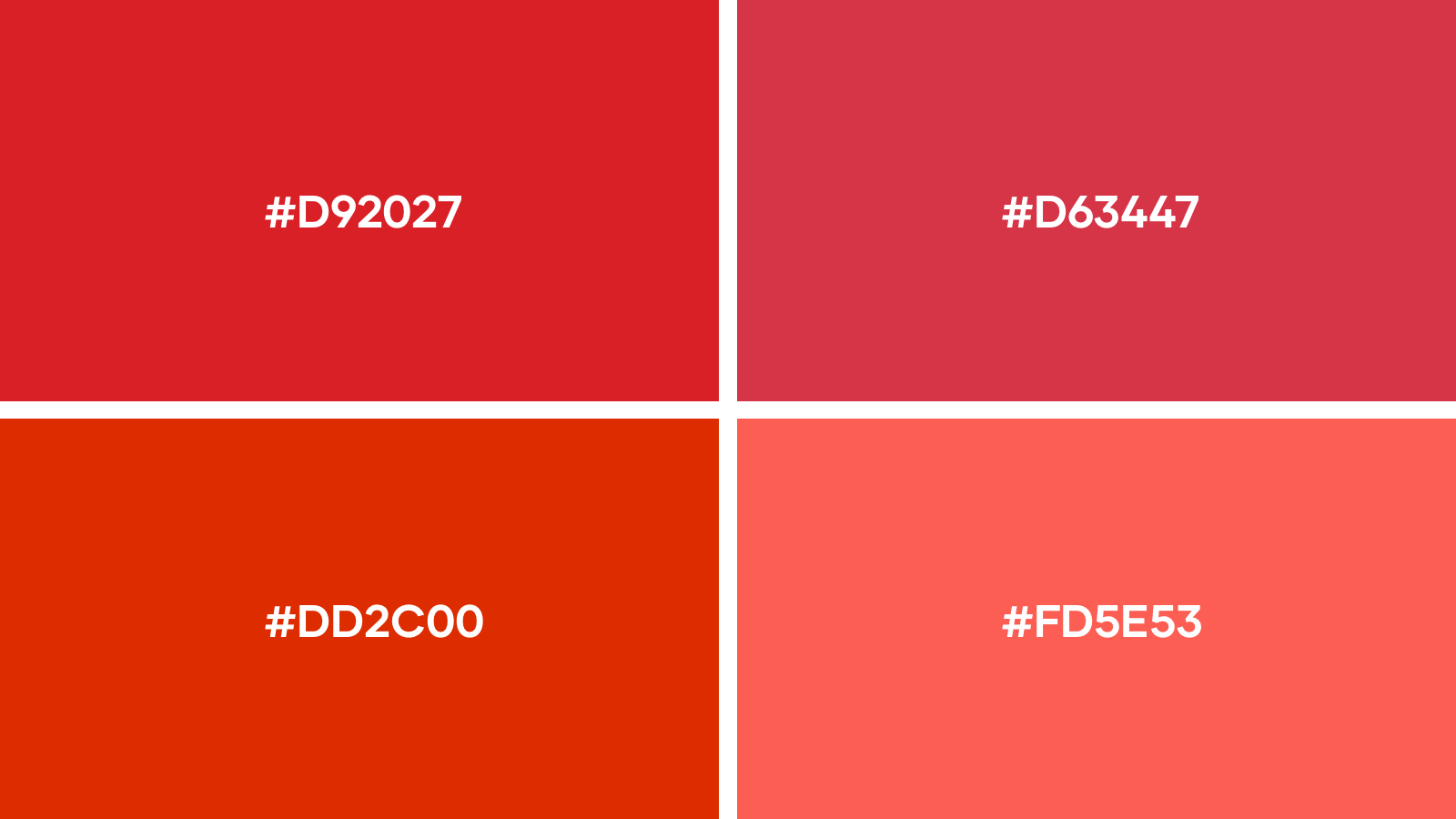 Our favourite red logo colors